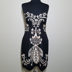 French Connection Dress Embroidered Strapless M